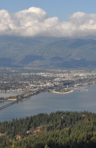 Sandpoint view from Gold Hill
