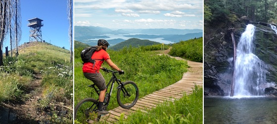 Hiking and Mountain Biking Sandpoint Idaho