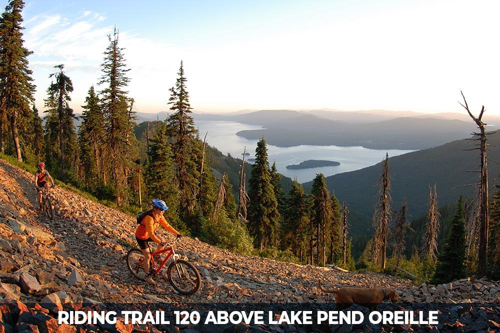 mountain bike trail 120 in sandpoint