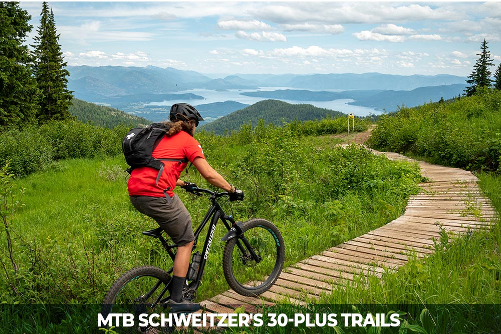 mountain bike 30 plus trails at schweitzer
